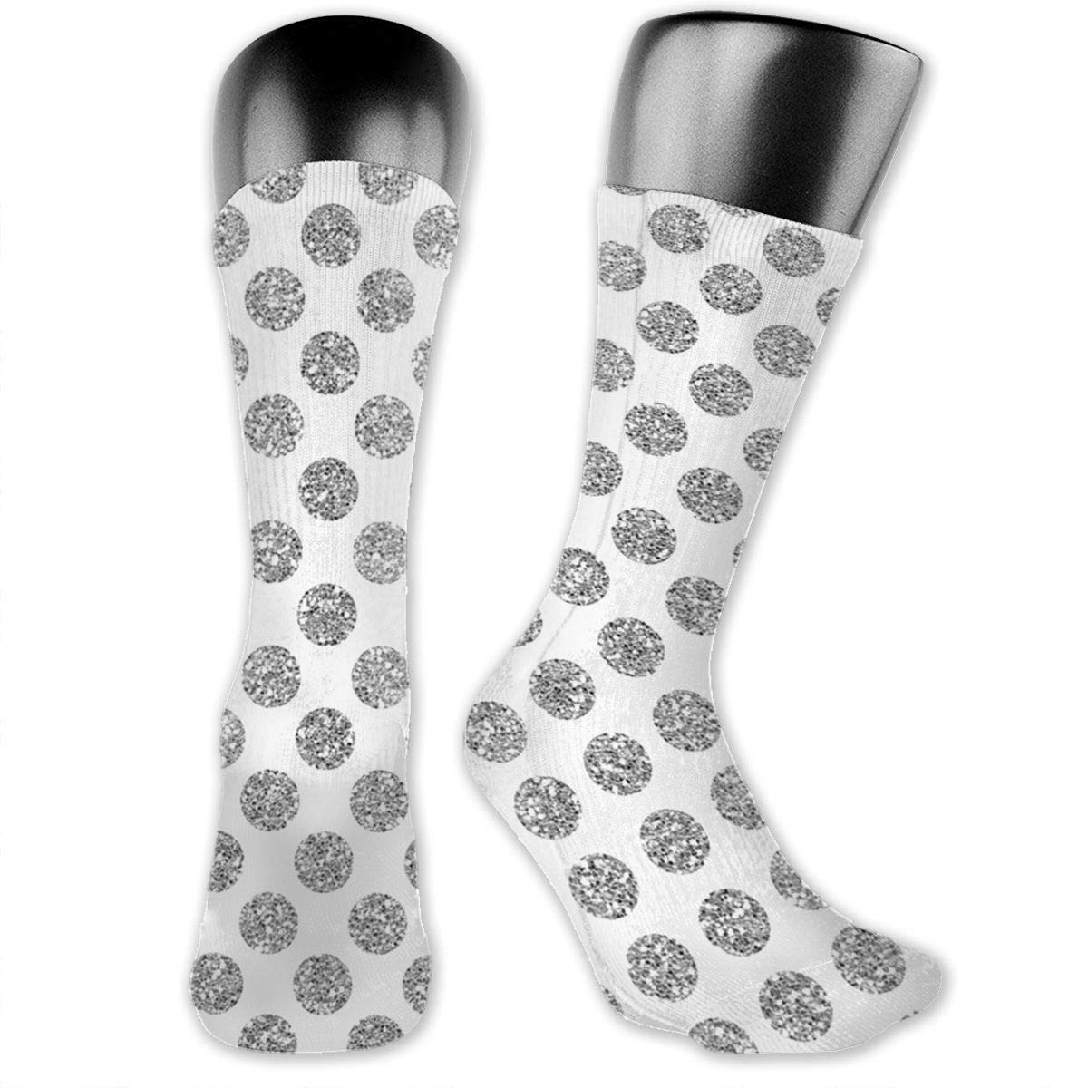 Glitter-polkadot Cotton Casual Colorful Fun Below Knee High Athletic Socks