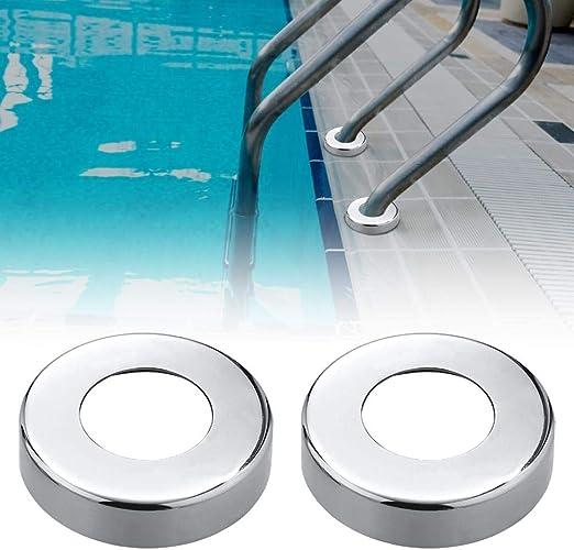 Magent 4 placas de acero inoxidable para escaleras de piscina o spa, para barandilla de piscina o barandilla: Amazon.es: Hogar