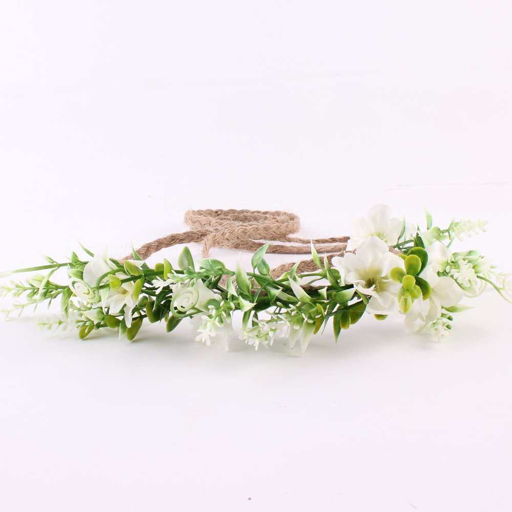 Ever Fairy corona fiore corona fiore fascia bimba bimba bosco foglia verde corona floreale rosa