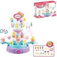 Deals on Sweet Rotating Candy Ice Cream Cupcake Plate Toy Playset