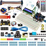 Miuzei Starter Kit for Arduino Projects Including Breadboard Holder, LCD 1602, Servo, Sensors and Detailed Tutorials MA05