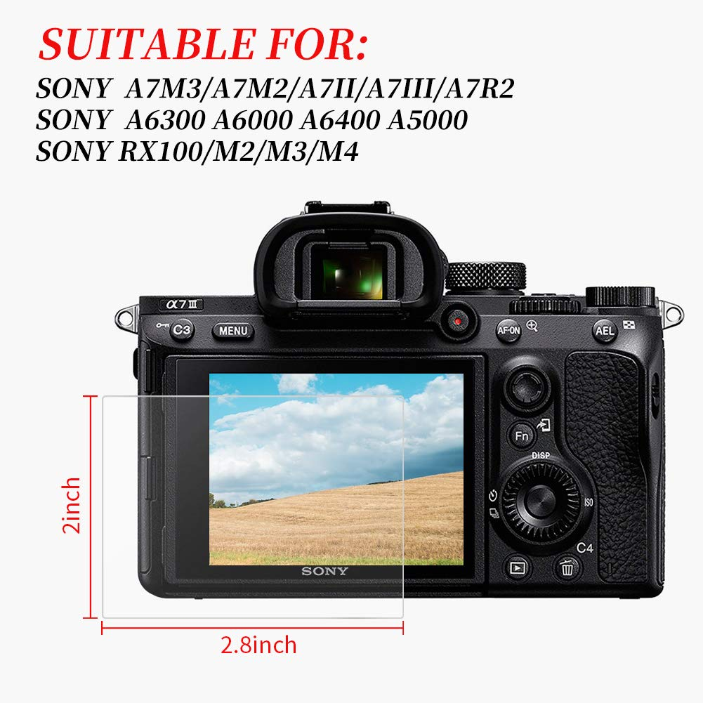 """Pack Of 3 Camera Screen Protector Film For Sony CyberShot DSC RX100 IV 3/"""""""