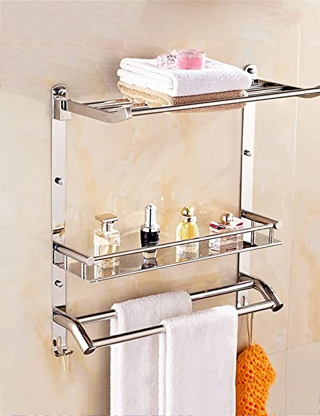 Baldas de baño Estante de toalla de acero inoxidable Estante de baño Estante de baño Garantizar
