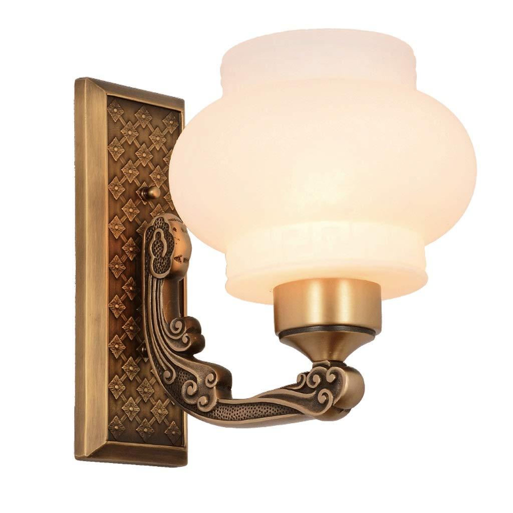 銅の壁ランプベッドルームの照明室内の壁ランプベッドサイドランプシングルヘッドの電球の照明装飾ライトE27 Rollsnownow B07TS31SD1