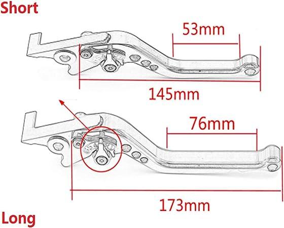 Leva della frizione del freno Pieghevole pieghevole estendibile Set per Yamaha MT-125//R125 2014-2017 Tipo pieghevole Rosso colore