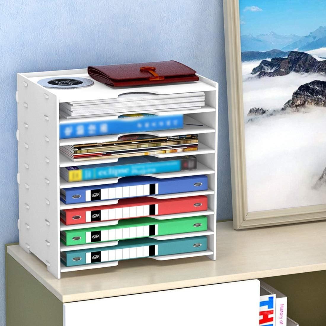 FELICIPP Dossiers Bo/îtes de Stockage Multicouches Racks de Bureau Color : Eight