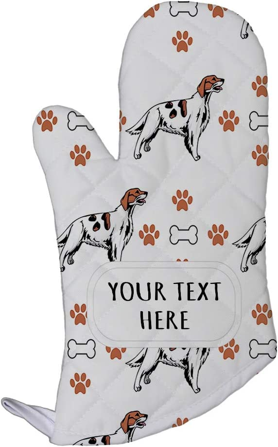 Style In Print Polyester Oven Mitt Custom Irish Red and White Setter Dog Pattern B Adults Kitchen Mittens