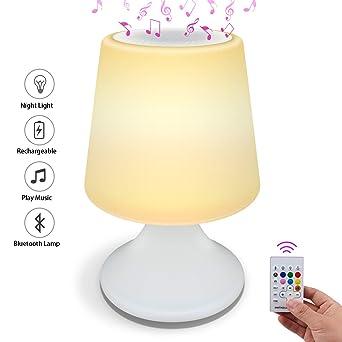 Bluetooth-Lautsprecher für Nachtlicht, ANSUG Moderne ...