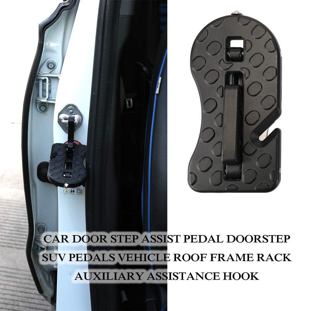 LZ Pedal De Asistencia para Autom/óvil Todoterreno En El Techo Pedal De Asistencia Gancho Pedal De Puerta Moki Car Doorstep