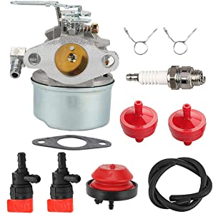ATVATP 640084 Carburetor for Tecumseh 632107 Carburetor 632107A 640084A 640084B Tecumseh HS50 HSK40 HSK50 HSSK40 HSSK50 HSSK55 Toro Craftsman MTD Snowblower