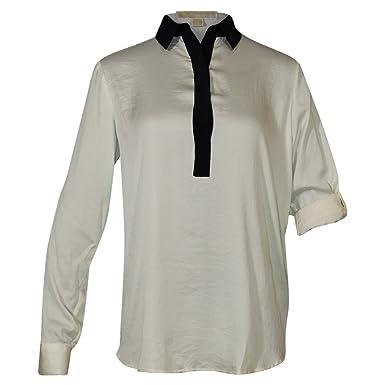 Michael Kors llegan hasta la mitad-de botón de blusa de manga ...