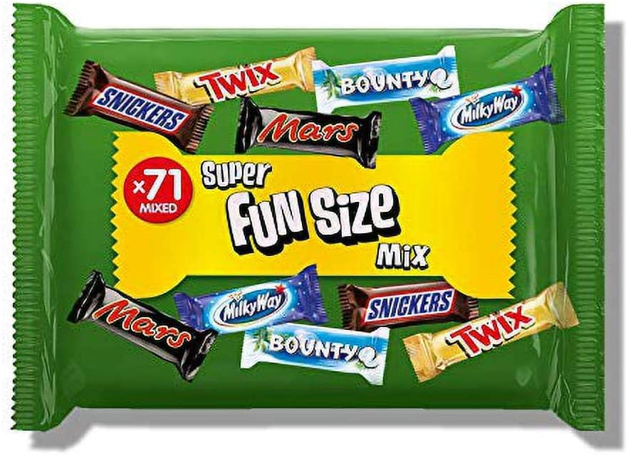 Mars, Snickers, Twix and More Assorted Fun Size Chocolate Bars, Halloween Party Bag Fillers, 1.4 kg, 71 Bars 39% OFF £7.32 @ Amazon