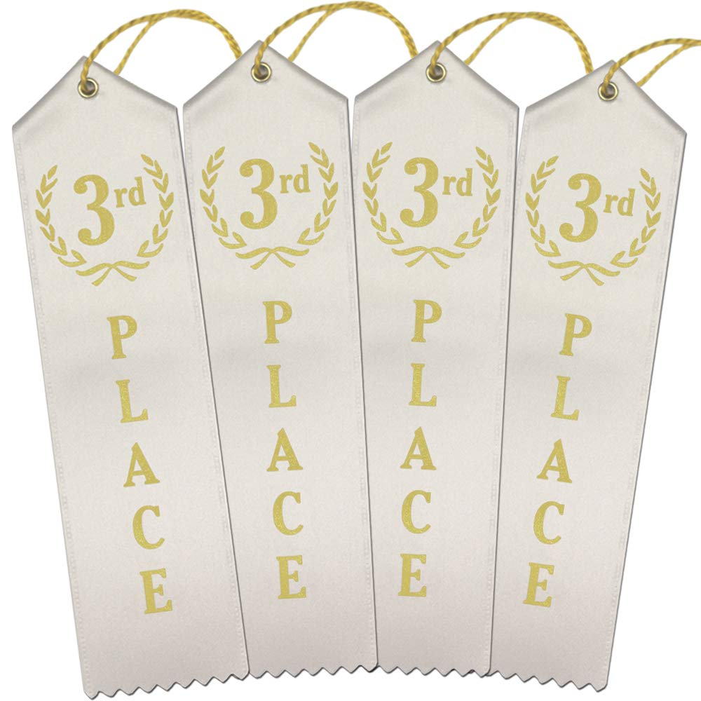 3rd Place Award Ribbons - Bulk 100 Pack