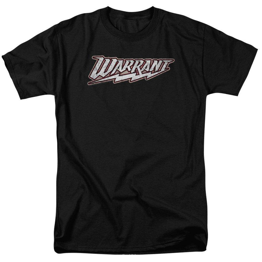 Black 6XLarge Warrant  Mens Logo TShirt