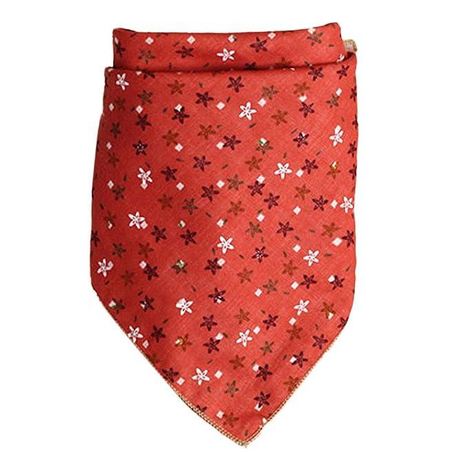 Xiahbong Bebé toalla pañuelo de alimentación bata baberos eructar paños de color caqui (rojo)