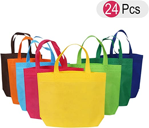 Bolsa de tela NUOLUX Bolsa de algodón Bolsas de regalo Bolsas de la compra reutilizables 24 pedazos: Amazon.es: Hogar