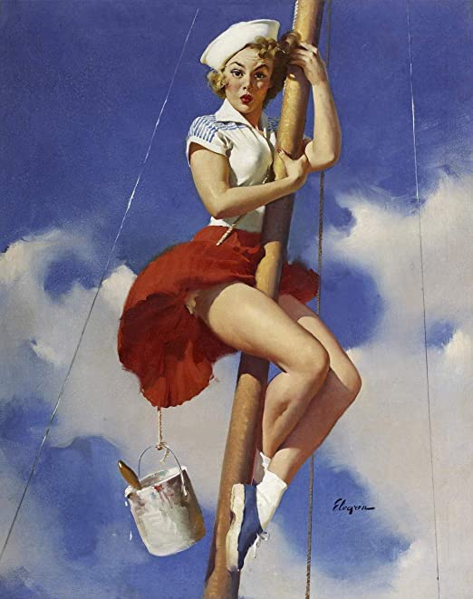 Gil Elvgren Pin Up Girls Giclee Canvas Print Paintings Poster Reproduction