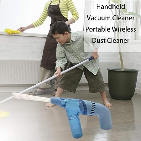 Kitechild - Mini aspirador inalámbrico de bolsillo con aspirador a pilas, color blanco: Amazon.es: Hogar