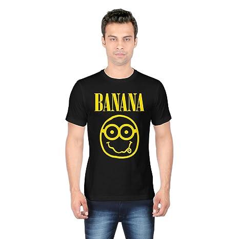 93bcfddcb7 Redwolf Nirvana Banana Graphic Printed Half Sleeve Cotton T-Shirt:  Amazon.in: Redwolf T-shirts