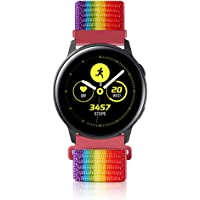 Relting Sport Bands Compatible for Samsung Galaxy Watch Active 2 44MM 40MM/Galaxy Watch 42MM,20MM Soft Nylon Strap…