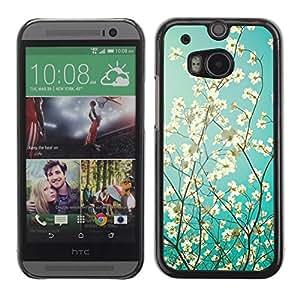 Be Good Phone Accessory // Dura Cáscara cubierta Protectora Caso Carcasa Funda de Protección para HTC One M8 // Sunshine Tree Sunny Summer