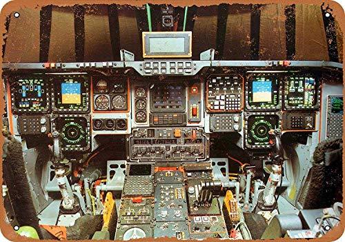 - QDTrade Vintage Look Tin Metal Sign 12 x 16 inch - Airplane Art - B2 Spirit Stealth Bomber Cockpit
