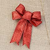Christmas Bowknot, Venkaite Xmas Bowknot Ornament for Wreath Christmas Tree /Xmas Party, Red