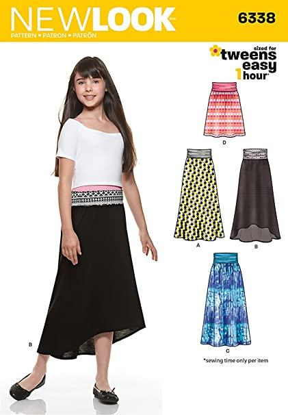 Amazon New Look 6338 Girls Easy Skirts And Knit Skirts Size
