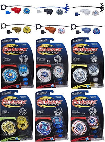 Beyblade Legends Tops 6 Pack Bundle (Best Galaxy Note 2 Launcher)