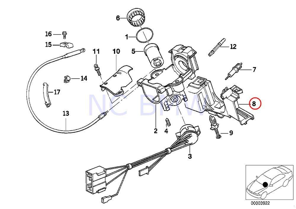Amazon Com Bmw Genuine Steering Column Switch Bracket Automotive