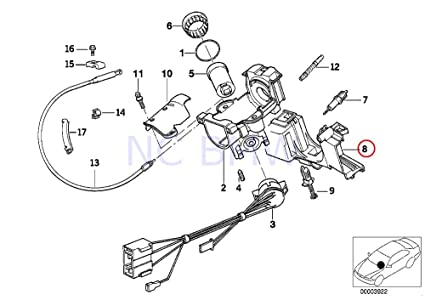 Amazon Com Bmw Genuine Steering Column Switch Bracket Automotive