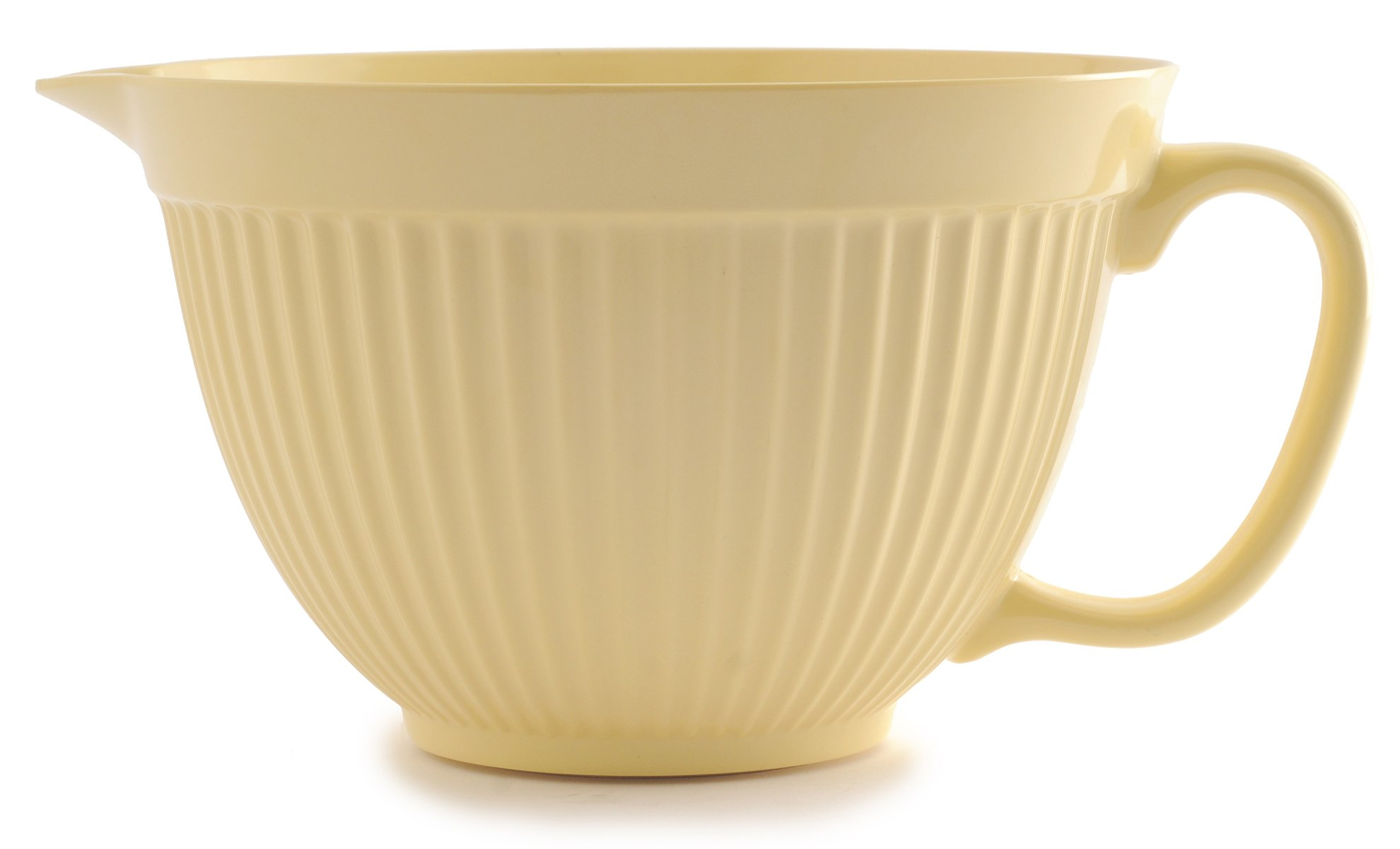 Norpro Grip-EZ 4 Quart Melamine Batter Bowl, Yellow