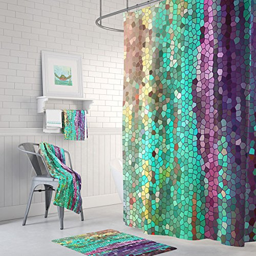 Amazon.com: Morning Mosaic Shower Curtain: Handmade