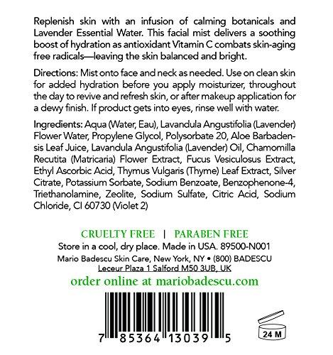 Mario Badescu Facial Spray with Aloe, Chamomile and Lavender, 8 oz.