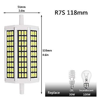 No regulable 20W R7S Lámpara LED118 mm 220 V 230 V 240 V 240 V SMD5730