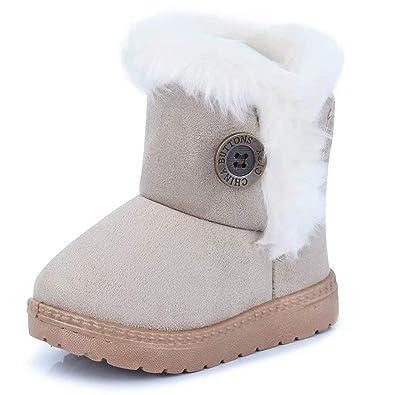 9810d2bbce532 Fille Garçon Chaussures Bottes d hiver Bébé Enfant Bottines Mode de Neige  avec Doublure Chaud