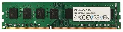 11 opinioni per V7 V7106004GBD Desktop DDR3 DIMM Modulo di memoria 4GB (1333MHZ, CL9, PC3-10600,