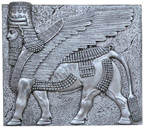 Historical Assyrian Lamassu winged Bull wall Sculpture www.Neo-Mfg.com 10