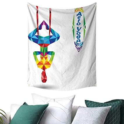 Amazon.com: Yoga Home Decor Tapestry Aerial Aero Anti ...