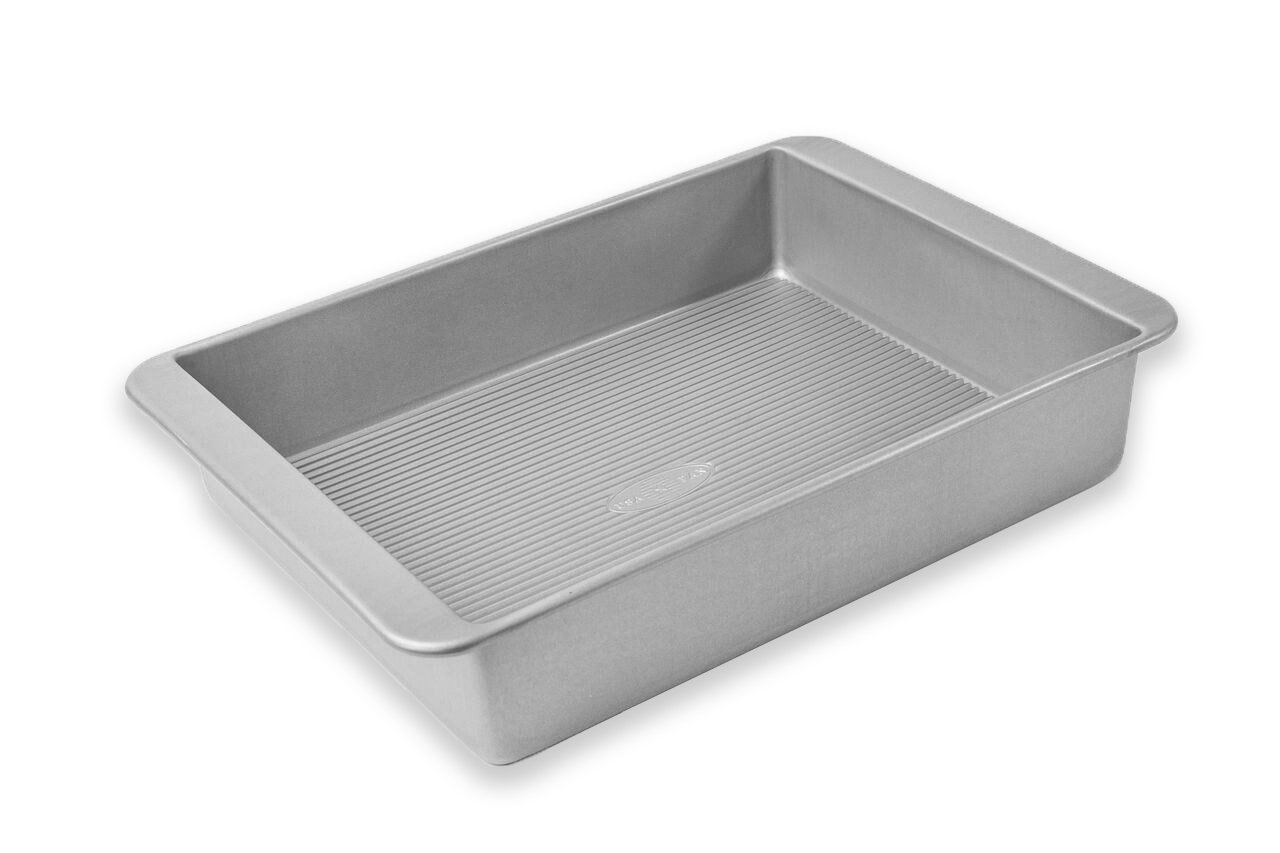 USA Pans USA Pan Bakeware Lasagna and Roasting Pan, Warp Resistant Nonstick Baking Pan, Made in The USA from Aluminized Steel 1111RC