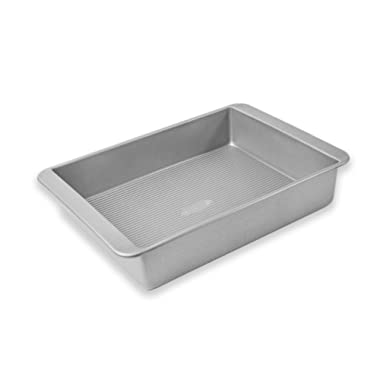 USA Pan Bakeware Lasagna and Roasting Pan, Warp Resistant Nonstick Baking Pan, Made in the USA from Aluminized Steel