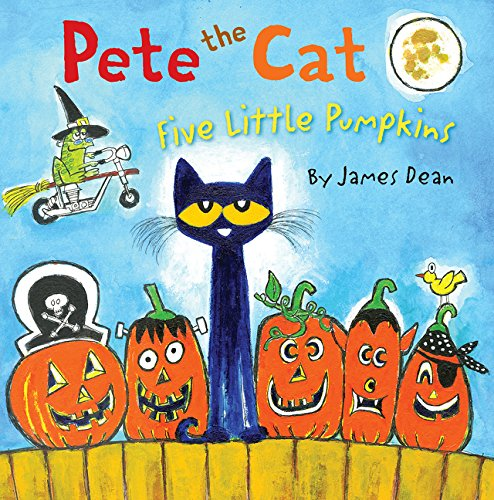 Pete the Cat: Five Little Pumpkins: James Dean: 9780062304186 ...