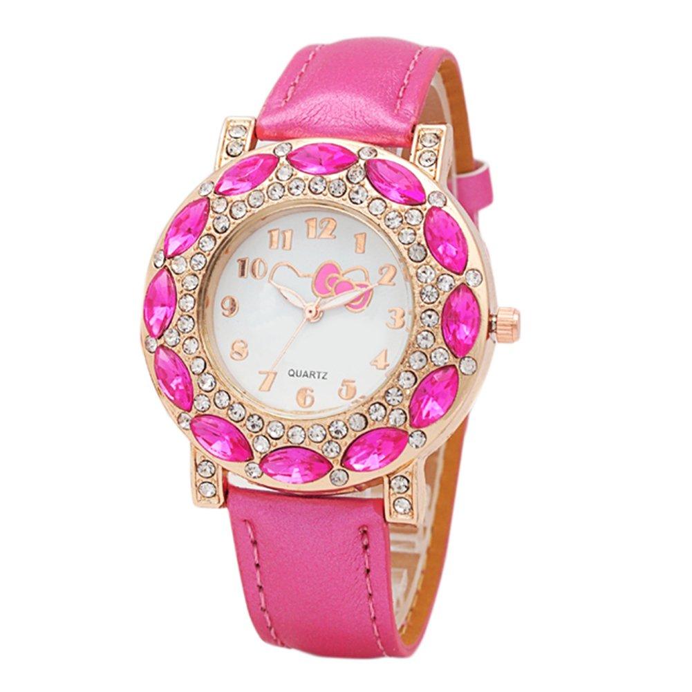 Modificable Reloj de Niño con Hello Kitty diseño Adorable Dibujos Reloj Niña Digital (Rosa Fuerte): Amazon.es: Relojes