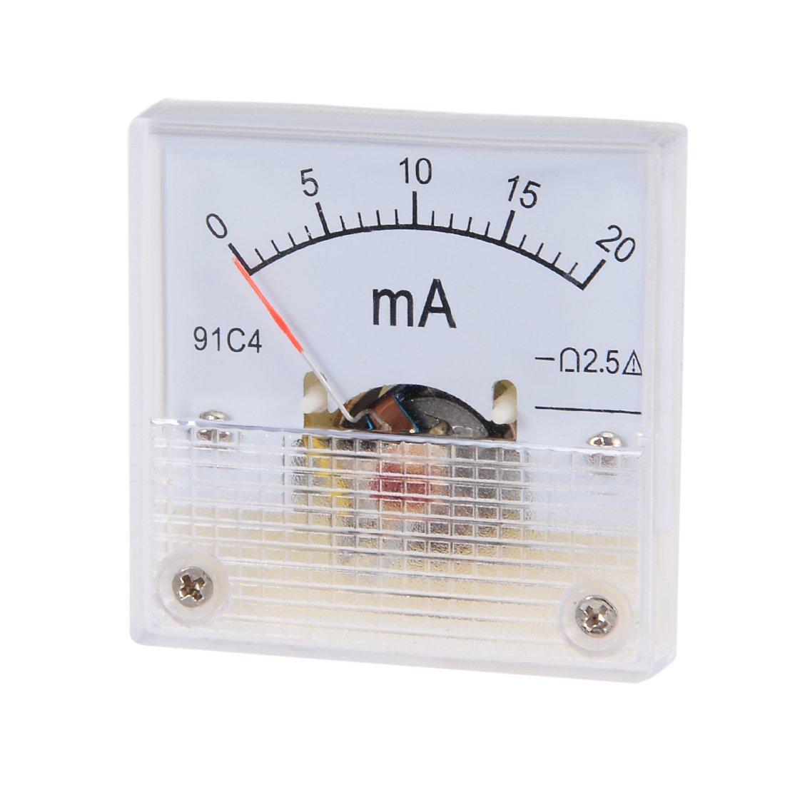 uxcell 85C1 Analog DC 2A Current Panel Meter Ammeter Ampere Tester Gauge