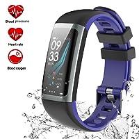 Teamyo Fitness Tracker, Orologio fitness Braccialetto Schermo a Colori Watch Bracciale Cardiofrequenzimetro da Polso Smartwatch Pedometro Impermeabile IP68