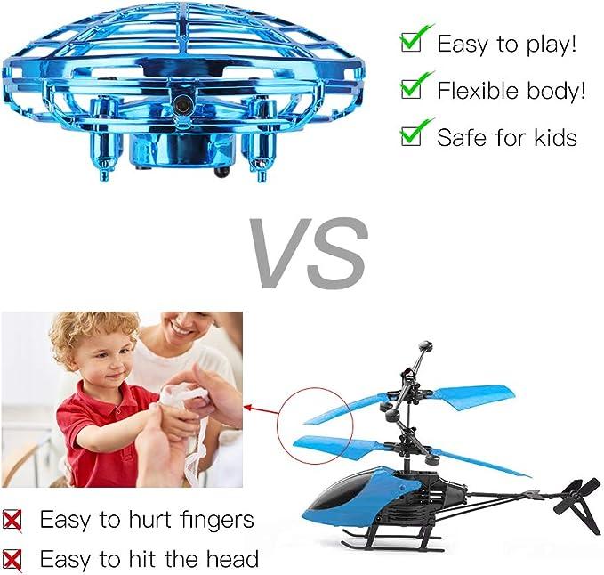 Gaoqian Mini Drone UFO para Niños, Dron Juguete Accionado con Mano ...