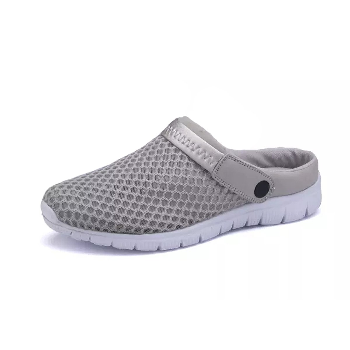 CCZZ Men's and Women's Summer Breathable Mesh Beach Sandals Slippers Quick Drying Water Shoes Amphibious Slip On Garden Shoes B07C2WB4Y2 US 9=EU 43|Grey
