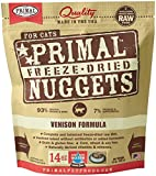 Primal Pet Foods 14  oz Freeze Dried Venison Cat Food, Medium