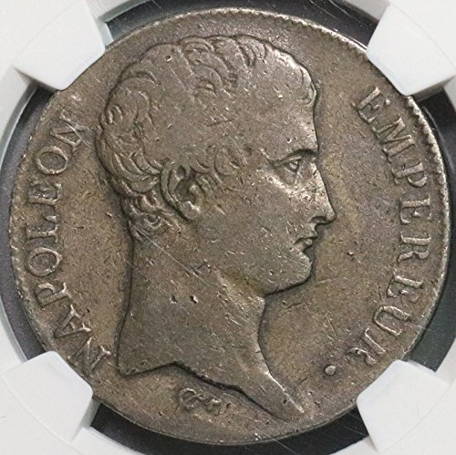 1806 FR France Rare 22K Minted Napoleon Toulouse Mint Silver Coin POP 1/0 (16102706C) 5 Francs Fine NGC F 12 ()