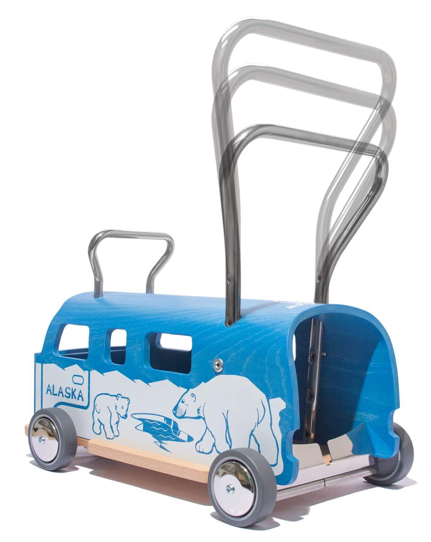 3 en 1 Andador + furgoneta + correpasillo Baloss ALASKA de madera ...
